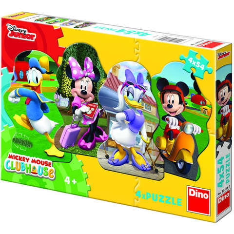 Dino Toys Puzzle 4 in 1 - Mickey si prietenii (54 piese)
