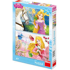 Dino Toys Puzzle 2 in 1  - Rapunzel si Aurora (66 piese)