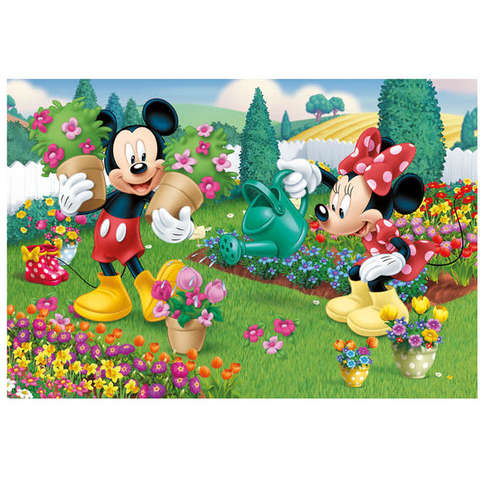 Dino Toys Puzzle 2 in 1 - Minnie cea harnica (66 piese)
