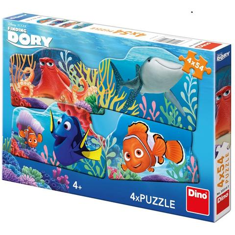 Dino Toys Puzzle 4 in 1 - In cautarea lui Dory ( 54 piese)