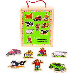 BigJigs Set magnetic - Animalutele de la ferma