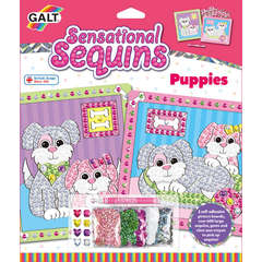 Galt Sensational Sequins: Set 2 tablouri cu catelusi -New edition