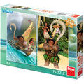 Dino Toys Puzzle 2 in 1 - Aventurile Vaianei ( 66 piese)