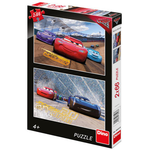 Dino Toys Puzzle 2 in 1 - Cars 3: Cursa cea mare ( 66 piese)