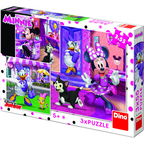 Dino Toys Puzzle 3 in 1 - O zi cu Minnie (55 piese)