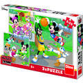 Dino Puzzle 3 in 1 - Mickey si Minnie sportivii (55 piese)