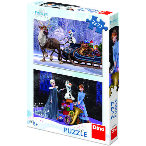 Dino Toys Puzzle 2 in 1 - Frozen (77 piese)