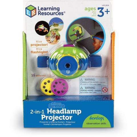 Learning Resources Proiector 2 in 1 - Lanterna de cap