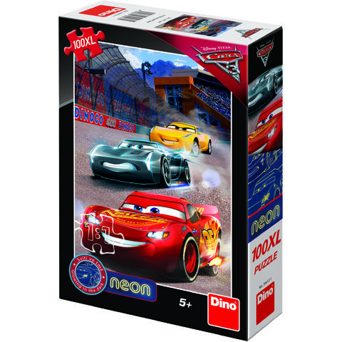 Dino Toys Puzzle Cars 3 Neon - 100XL
