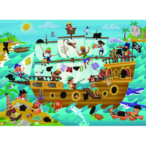 Galt Magic Puzzle - Corabia piratilor (50 piese)