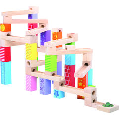 BIGJIGS Toys Marble Run din lemn