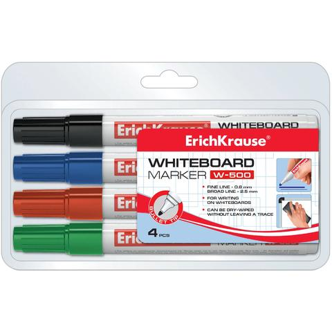 ErichKrause Set markere whiteboard - 4 culori