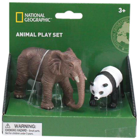 National Geographic Set 2 figurine - Elefant si Urs Panda