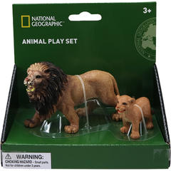 National Geographic Set 2 figurine - Leul si puiul