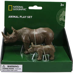 National Geographic Set 2 figurine - Rinocerul si puiul