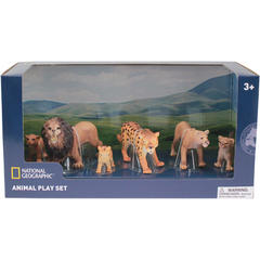 National Geographic Set 6 figurine - Lei si Leoparzi