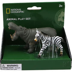 National Geographic Set 2 figurine - Hipopotam si Zebra