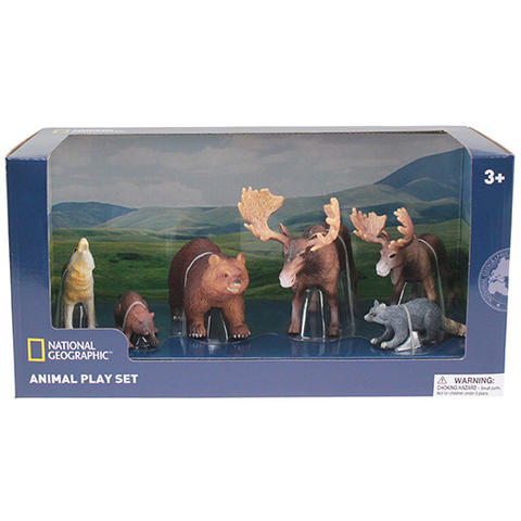 National Geographic Set 6 figurine - Animalute Salbatice