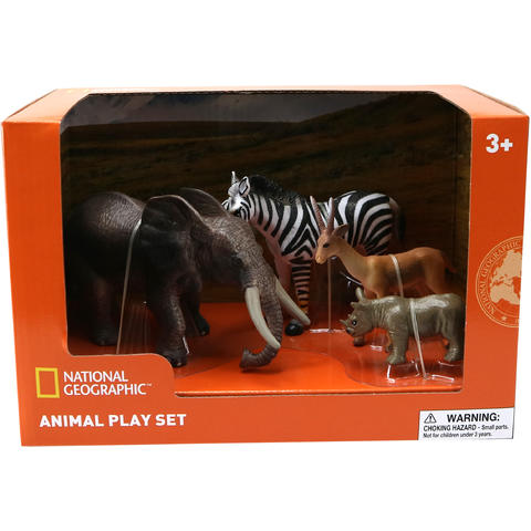 National Geographic Set 4 figurine - Mamut, Rinocer, Zebra, Antilopa