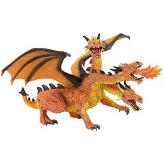 Bullyland Dragon orange cu 3 capete