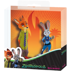 Set figurine Nick Wilde si Juddy Hoops Zootropolis