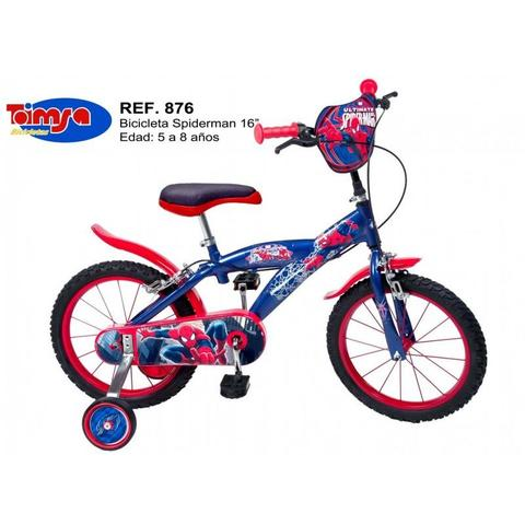 Toimsa Bicicleta 16'' Spiderman