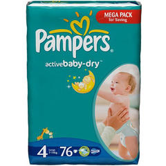 PAMPERS Scutece Giant Pack 4 Active Baby