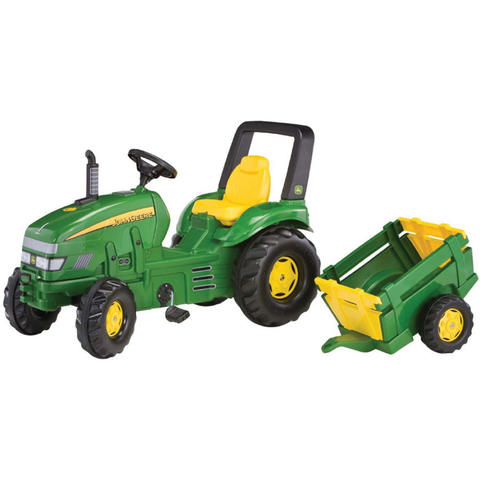 Rolly Toys Tractor cu pedale si remorca copii 035762 Verde