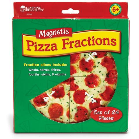 Learning Resources Pizza fractiilor cu magneti