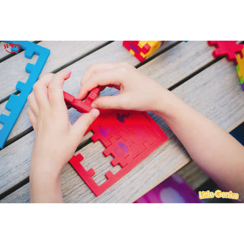 Happy Cube Puzzle - Little Genius - set 6 bucati