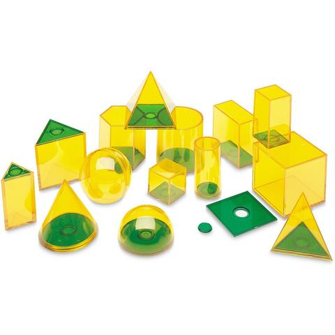 Learning Resources Forme geometrice GeoSolids - 14 piese