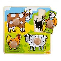 BigJigs Primul meu puzzle - 4 animale domestice