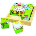 BigJigs Toys Puzzle cubic - animale domestice