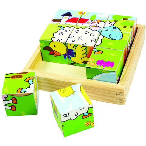 BigJigs Puzzle cubic - animale domestice