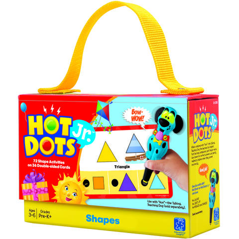 "Educational Insights Carduri Junior HOT DOTS ""Forme geometrice"""