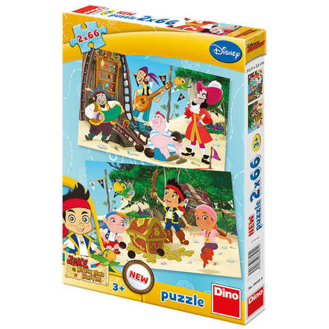Dino Toys Puzzle 2 in 1 - Jake si piratii (66 piese)