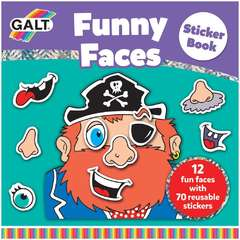 Galt Carte cu abtibilduri Funny Faces