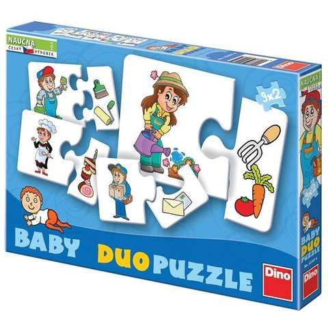 Dino Toys Puzzle in 2 piese - Invatam meseriile