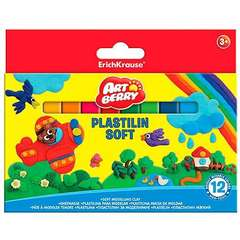 Set plastilina in 12 culori