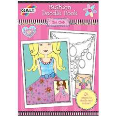 Carte de colorat Fashion Doodle