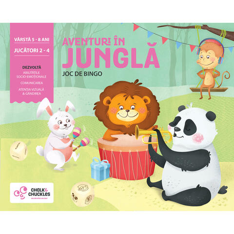 Chalk and Chuckles Joc de bingo - Aventuri in jungla