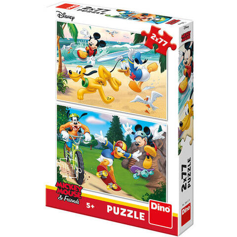 Dino Toys Puzzle 2 in 1 - Mickey campionul (77 piese)