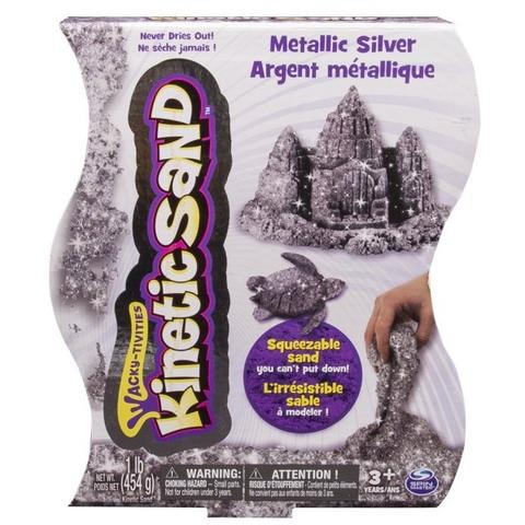 Spin Master Nisip Kinetic Metalic Argintiu 454 g - Kinetic Sand