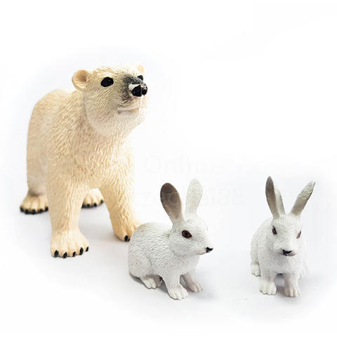 National Geographic Set 3 figurine - Urs si iepure polar