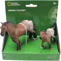 National Geographic Set 2 figurine - Calutul Appaloosa si puiul