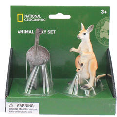 National Geographic Set 2 fingurine - Cangur si Strut