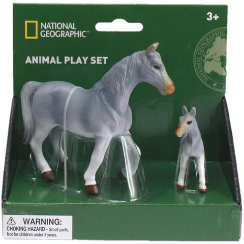 National Geographic Set 2 figurine - Cal gri si manz