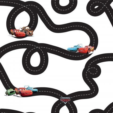 DECOFUN Rola tapet 10 X 0,52m Disney Cars TA01897
