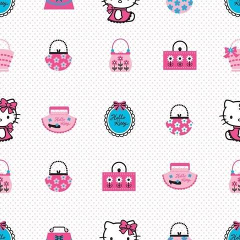 DECOFUN Rola tapet 10 X 0,52m Hello Kitty Fashion TA73499