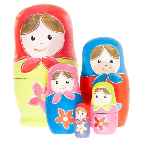 Egmont toys Set de pictat papusi matrioshka